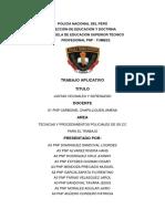 La Policía Nacional Del Perú. Trabajo Aplicativo