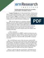 Western Research Institute Press Release