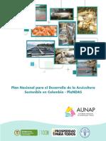 Plan Nacional Para El Desarrollo de La Acuicultura Sostenible Colombia