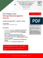 Pre-congress Young Neurosurgeons Forum (YNF) Course, XVI Word Congress of Neurosurgery