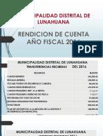 Rendicion de Cuenta 2016 Lunahuana