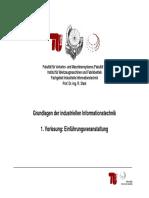 Grundlagen Der Industriellen Informationstechnik 1. Vorlesung ...