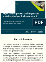 Procemin 2015 Rejection of pyrite