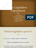 The Legislative Department 1