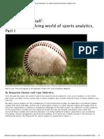 Beyond Moneyball Therapidlyevolvingworldofsportsanalytics,PartI