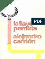 La Llave Perdida - Alejandro Carrión