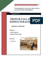 Fallas en Elementos Estructurales