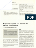 4.10 Medical Standards for Workers in Nuclear Installations. l.c. Van Oudenhove de St Gery