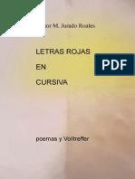 Letras Rojas en Cursiva