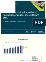 Procemin 2015 Effect of different saline water on floatability of copper-molybdenum ores
