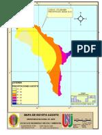 Mapa de Isoyeta - Agosto