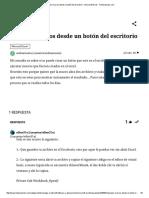 Ejecutar Macros Desde Un Botón Del Escritorio - Microsoft Excel - Todoexpertos
