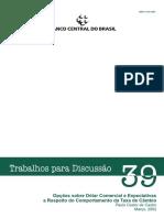 Artigo Valoração de Opções Cambiais Banco Central