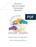 An overview of Choose2Matter
