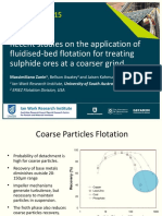 Procemin 2015 Recent studies on the application of fluidised-bed flotation for treating sulphide ores at a coarser grind