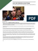 """26-01-17 """"La dignidad no se negocia"""", dice Pavlovich en torno Trump. -El Universal"""