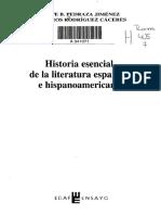 Índice - Historia esencial de la literatura española e hispanoamericana