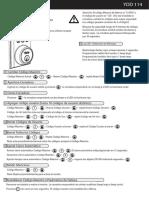 Manual de operación cerradura YDD114