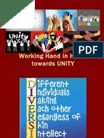 Hand in Hand Towards UNITY