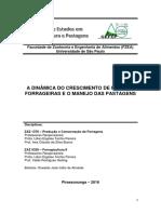 Apostila a Dinâmica Do Crescimento de Plantas Forrageiras e o Manejo Das Pastagens
