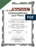 Rachmaninoff MorceauxVol1
