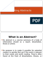 The Abstract – an Example