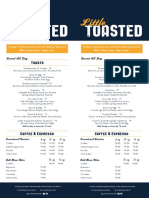 Little Toasted Food Menu