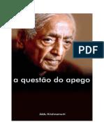 A Questão Do Apego-Jiddu Krishnamurti