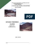 Estudio Tarifario 21 11 2005 CCHP y RQL Resum Ejecut ELAPAS.doc