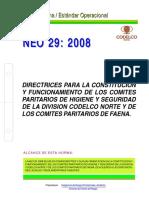 NEO%2029%20-%202008 DIRECTRICES PARA LA CONSTITUCION Y FUNCIONAMIENTO DE LOS COMITES PARITARIOS DE HIGIENE Y SEGURIDAD.pdf