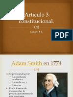 Articulo 3 Constitucional ECONOMICO