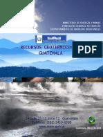 MEM Recursos Geotérmicos de Guatemala