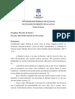 Fichamento I- Italo Rafael a. Do Nascimento.