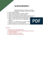 Taller de Refuerzo Profilaxis y Complicaciones