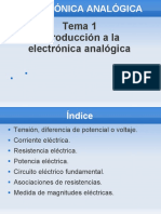Tema1 Introduccion a La Electronica Analogica Presentacion