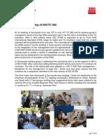 Comunicado do ISO/TC 262 sobre a Revisão da ISO 31000 de Gestão de Riscos