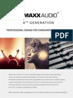 Maxxaudio v6 Technical Product Brief