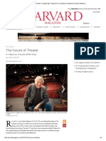 The Future of Theater in a Digital Age, Harvard Magazine January-February 2012
