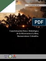 Caracterización Físico- Hidrológica  de la Microcuenca La Brea, Buenaventura- Colombia.