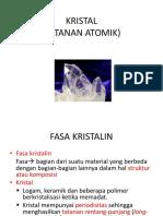 KRISTAL Tatanan Atomik