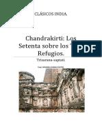 Chandrakirti Los Setenta Sobre Los Tres Refugios.