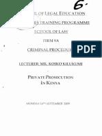 6. Private Prosecution in Kenya.
