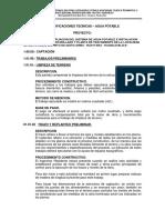Especificaciones Tecnicas Agua Potable Quito Arma (Reparado