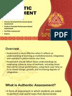 12. Authentic Assessment