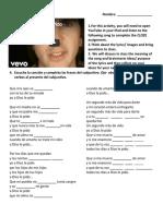 cloze activity-song- a dios le pido-edsc304