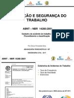 Acidentes Do Trabalho - NBR14280