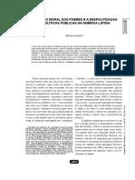 o Governo Moral Dos Pobres e a Despolitização Da Politicas Publicas Na America Latina