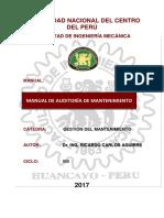 Manual de Auditoría de Mantenimiento