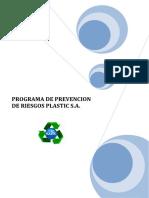 Programa de Prevencion de Riesgos Plastic s.a.