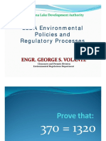 LLDA Envi. Policies & Regulatory Reqs.